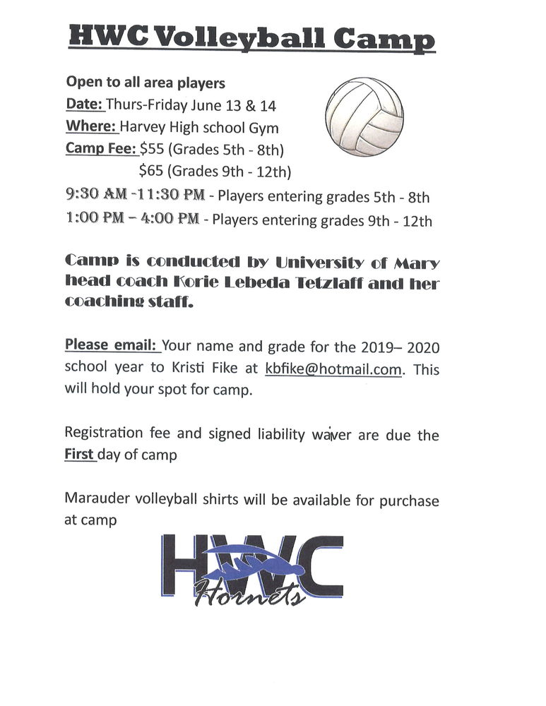 HWC Volleyball Camp
