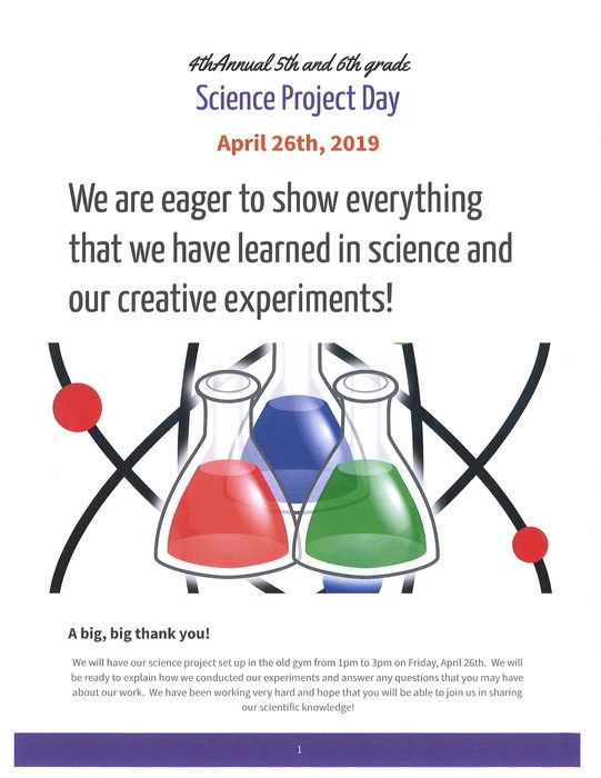 5th & 6th Grade Science Project Day