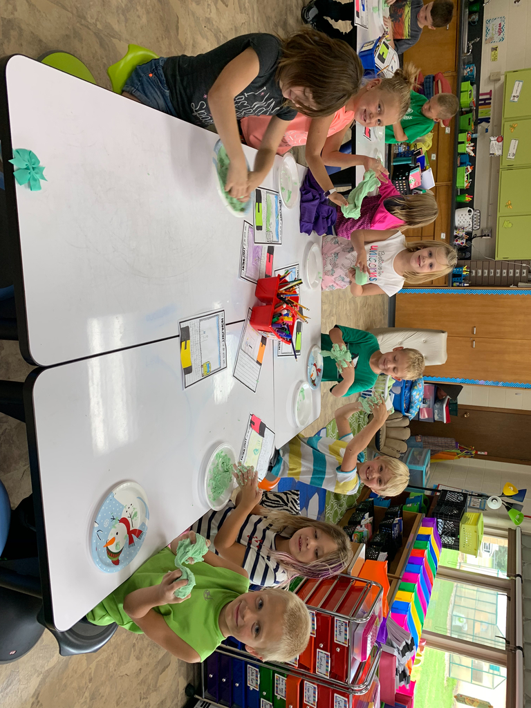 First graders making their favorite summer memory.