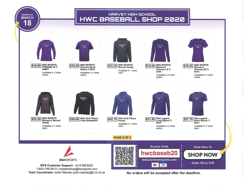 HWC Baseball Clothing