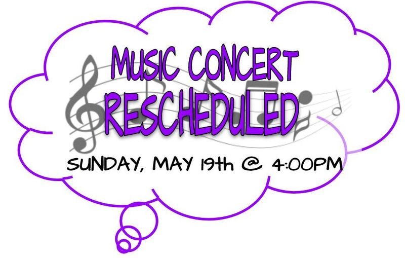 SPRING CONCERT RESCHEDULED!